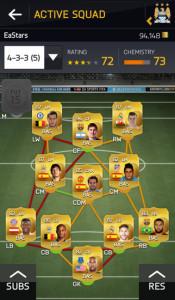 Мобильное приложение FIFA 15: Ultimate Team