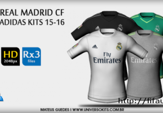 Real Madrid CF Adidas 15:16 HD + FONT + NUMBERS