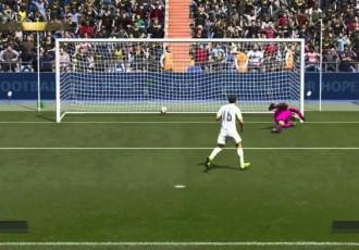 Как бить пенальти низом в FIFA 16?