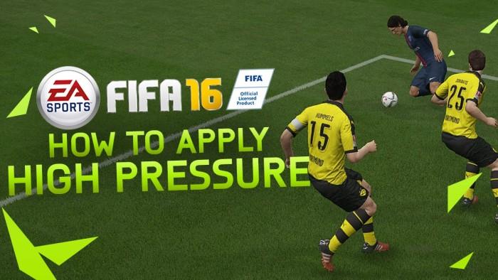 Мощный прессинг в FIFA 16